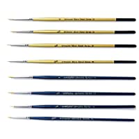 The Art Shop Skipton Fine Detail Paint Brush Set - Pack of 8