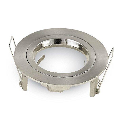 Satin-nickel Art (PORTAFARETTO Rund Einbaustrahler für GU10Tac vt-774Satin Nickel SKU 3643)