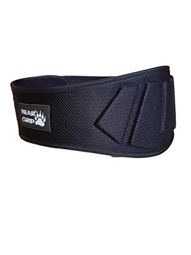 BEAR GRIP Nero Sollevamento Pesi Neoprene Curvo Palestra Cintura Posteriore Supporto Lombare Fitness Bodybuilding, XSmall
