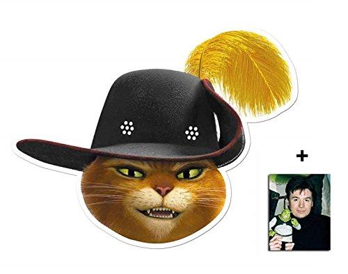 Puss in Boots from Shrek Single Karte Partei Gesichtsmasken (Maske) Enthält 6X4 (15X10Cm) (In Boots Shrek Puss)