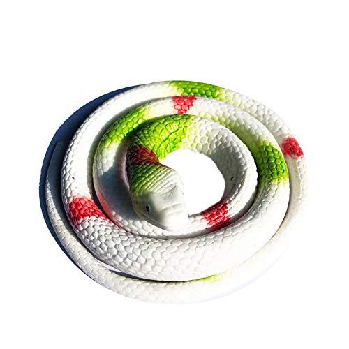 TREESTAR 75 cm Kunststoff Rekile Modell Tier Spielzeug Schlange bunt für Scherzartikel Wie April Geschenk Halloween Dekorationen Zubehör Schlange Kunststoff Gummi 68cm Stil-1