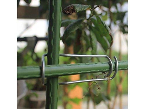Galleria fotografica Utile 5 PCS Traliccio da giardino Connettore per piante Connettore per graffe per cimeli di pomodoro 8-11 mm nella vita quotidiana