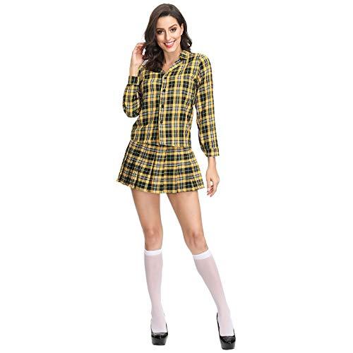 Halloween Kostüm europäischen literarischen Retro Plaid Student Suit,M