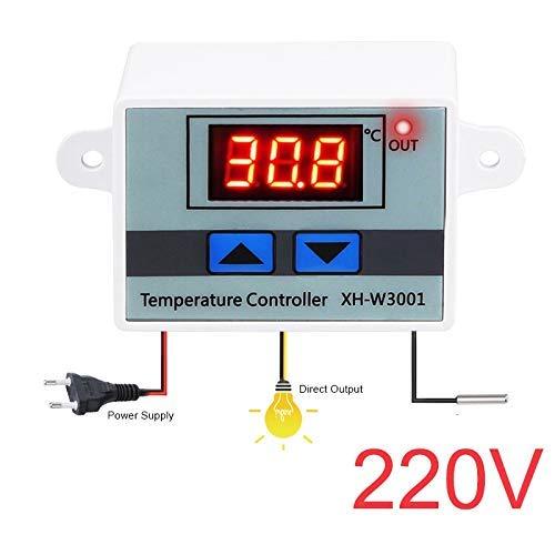 LXYZ Haushaltswerkzeuge,XH-W3001 10A Digitaler Temperaturregler Qualität Thermoregler Thermoelement-Thermostat Mit LCD-Anzeige 220-V-Temperaturregelung,Thermostat