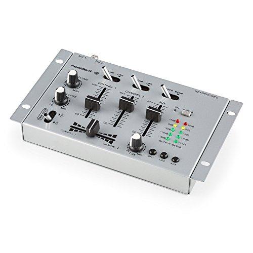 resident dj TMX-2211 • DJ-Mixer • 3/2-Kanal Mischpult • DJ-Mischpult • Mikrofon-Eingang • Kopfhörer-Ausgang • 2 x Phone-Line-In • 1 x Cinch-Line-In • 1 x Cinch-Line-Out • Talkover-Funktion • geeignet zum Rackeinbau • 12 Volt-Betrieb möglich • silber - Mixer Usb-controller