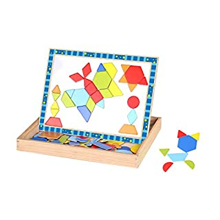 Tooky Toys TKF027 Craft Trikes Shapes Magnetic Puzzles, 30 x 23 x 21,5 cm