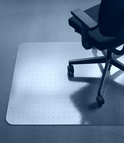 ProfiOffice Bodenschutzmatte für Teppichböden, PET 92 x 122 cm, 2,3mm, mit Noppen (08111)