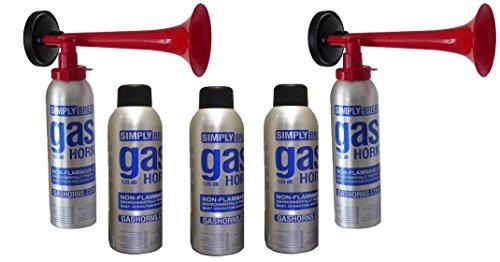 2 Simply Bocina completa, 3 Simply Botellas de repuesto, para fanfarrias de aire comprimido, sapo, bocina, de acuerdo con la legislación de la UE, muy respetuoso con el medio ambiente 120 db