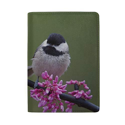 Schön Bunte Sunbirds in den Blumen, die Druck-Pass-Halter-Abdeckungs-Fall-Reisegepäck-Pass-Mappen-Kartenhalter blockieren, der mit Leder für Mann-Frauen-Kind-Familie hergestellt Wird (Für Hinterhof Vogelbeobachtung Kinder)