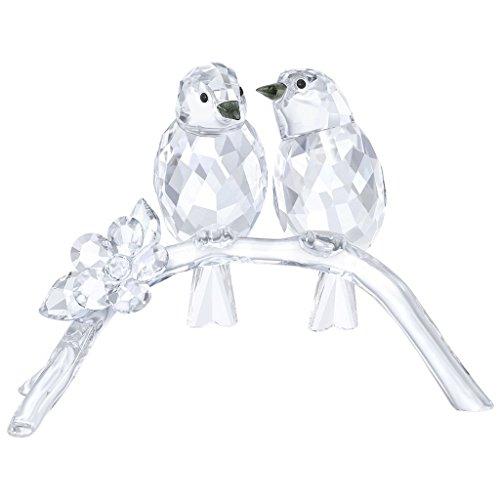 Swarovski occhiali uccelli figura, cristallo, trasparente, 7.5x 10.4x 4.5cm