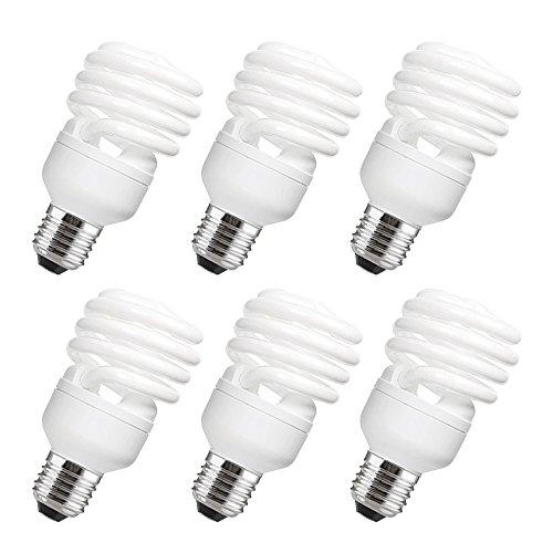 Electraline Mini-Pack von 6Energiesparlampen, dimmbar (warmweiß, E27, T3spirale, 23W, 230V) -