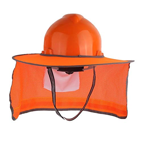 LXFBX Cascos de Trabajo Casco de Trabajo Protector Solar, Cubierta de Alta Visibilidad, Parasol Completo para construcción y paisajismo. Casco de Seguridad, Casco de construcción protecto (Color : A)