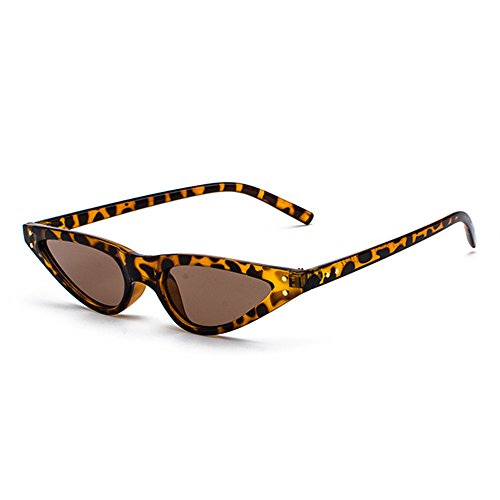 1d8402e677 Small Triangle Cat Eye Sunglasses Sexy Women Leopard Cateye Frame Skinny  Narrow Retro Sun Glasses Slim