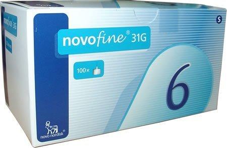 Novofine 31G x6mm Needles /(100Stk/)
