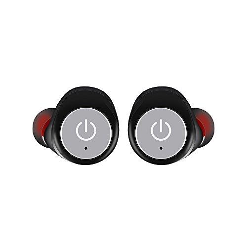 99native Mini Twins Wireless Bluetooth Kopfhörer Handfree Wireless Earbuds Touchbedienung kopfhörer,federleicht für Samsung, Nexus, HTC und mehr,Unterstützen Sie eine Übereinstimmung Zwei (Grau)