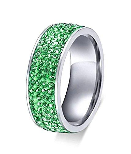 AnazoZ Sonstige Grün, Edelstahl Brilliant Rund grün Zirkonia