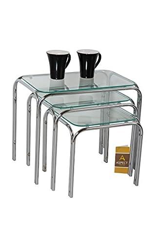 ASPECT Lisbon Nesting/Side End Tables, Large 46 x 30 x
