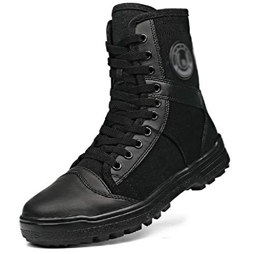 Wangxyan Uomo Boots Combattimento tattico Hiking Boots Work Combattimento Fuoristrada Stivali Polizia di Sicurezza Training Boot Outdoor Scarpe Leggere Motorcycle Boot,Nero,38