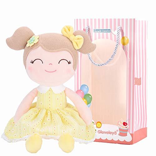 Gloveleya Baby Gift Toys Cuddly muñecas de Trapo de Peluche de Juguete de Felpa Buddy Soft Spring Girls Gift Boxes - Amarillo