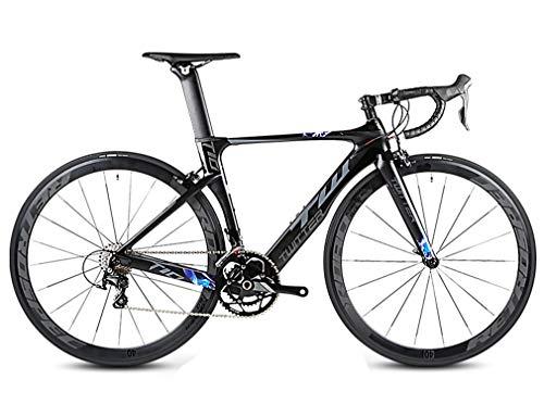 DUABOBAO Rennrad, 22-Gang-700C Für Erwachsene, Sport-Zyklus Im Freien, Kohlefaser-Rahmen, 5 Farben, Familie Mountainbike,Black,54CM