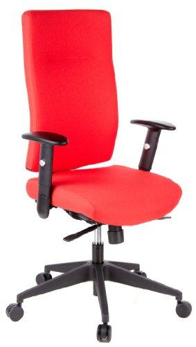 Buerostuhl24 608520 Bürostuhl/Drehstuhl Pro-Tec 300 Stoff, rot