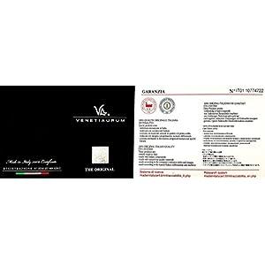 Venetiaurum - Collana Multifili Da Donna Cm 48 Con Pendente Acquamarina In Vetro Originale Di Murano E Argento 925 Rodiato - Gioiello Made In Italy Certificato.