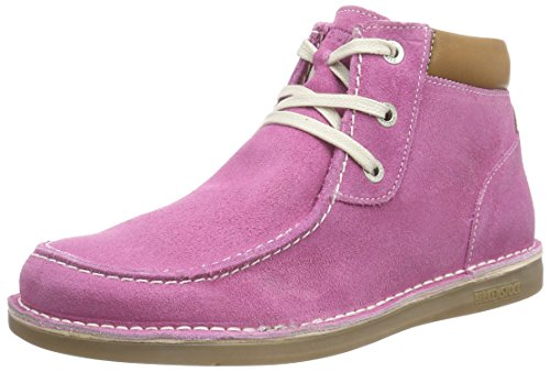 Birkenstock Pasadena High Kinder, Scarpe Derby con lacci Ragazza, Rosa (Rosa (Pink)), 28