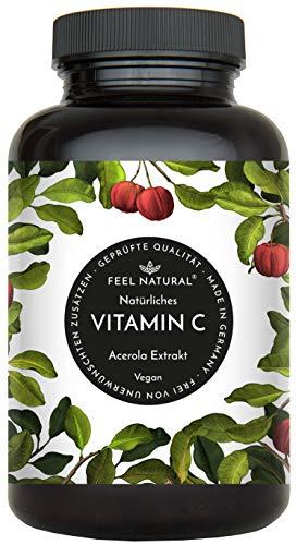 Acerola Kapseln - Natürliches Vitamin C. 120 vegane Kapseln im 4 Monatsvorrat. Ohne unerwünschte Zusätze. Laborgeprüft, vegan und hergestellt in Deutschland - Mehrere Vitamin-120 Kapseln