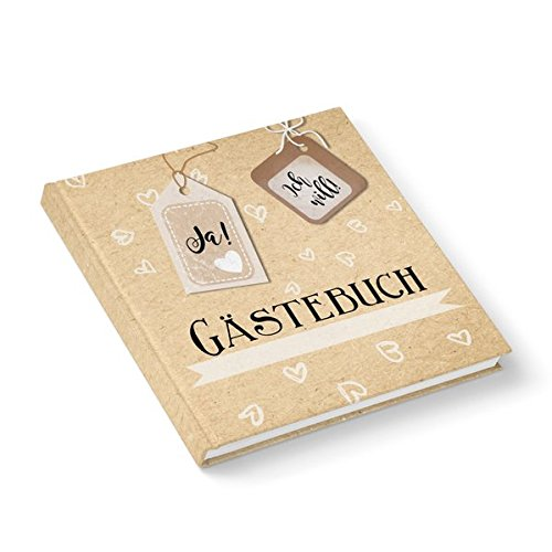 Hochzeits-Gästebuch Ja! ich will! (Hardcover 21x21 cm, Blankoseiten): Umschlag matt und - Katholische Hochzeit Geschenke