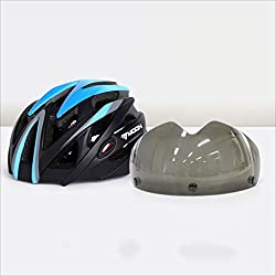 Casco Ultra Light de peso especializado en bicicleta, casco de ciclismo de deporte ajustable cascos de bicicleta para bicicleta de carretera y montaña, motocicleta para hombres y mujeres adultos, juventud - carreras, protección de la seguridad ( Color : Blue black L )