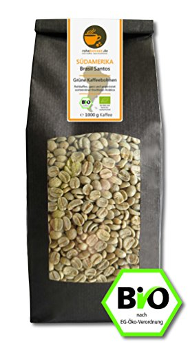 Bio Rohkaffee Arabica Brasil Santos 1000g