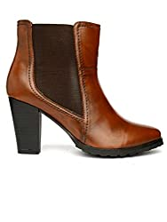 Bruno Manetti Women Faux Leather Tan Boots