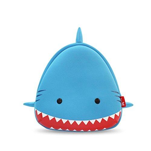 Georgie Porgy 3D Mochila Infantiles Animal Bolsas Escolares de Niños Niñas (Shark02)