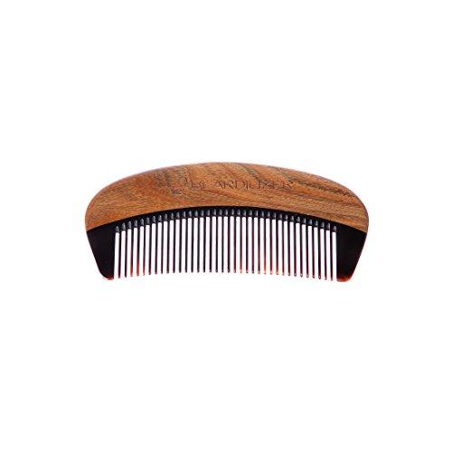 Peigne à barbe Beardilizer® - Bois de Santal et Corne de Buffle