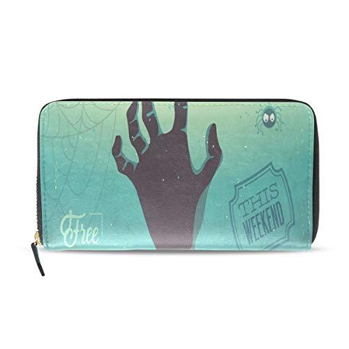 Zombie Hand Lange Passport Clutch Geldbörsen Reißverschluss Geldbörse Tasche Handtasche Geld Organizer Tasche Kreditkarteninhaber Für Dame Frauen Mädchen Männer Reise Geschenk ()