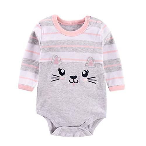 Overall Baby, 0-24 Monate Neugeborene Baby Mädchen Jungen Cartoon Strampler Bodysuit Outfit Kleidung, Baby Strampler Set-Pwtchenty