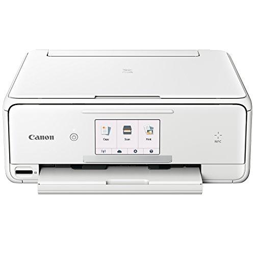 Canon PIXMA TS8051 Farbtintenstrahl-Multifunktionsgerät (Drucken, Scannen, Kopieren, 6 separate Tinten, WLAN, Print App, Duplex, 2.400 x 4.800 dpi) weiß (Canon Pixma Drucker-weiß)