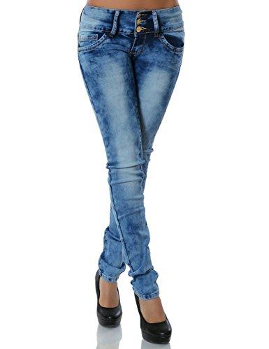 Damen Jeans Skinny (Röhre) No 13643, Farbe:Blau;Größe:36 / S