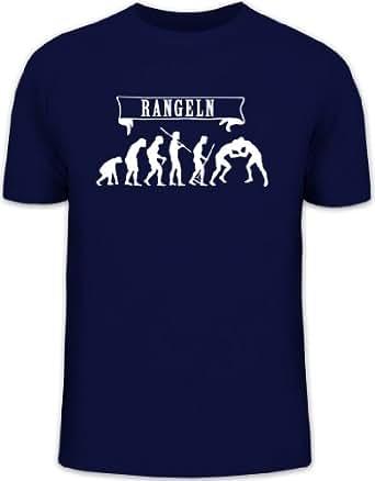 Shirtstreet24, EVOLUTION RANGELN Herren T-Shirt Fun Shirt Funshirt Shirts, Größe: S,dunkelblau