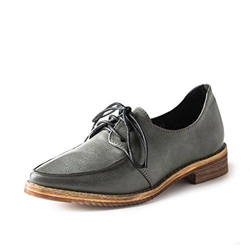 chaussures plates pointues au printemps/École vent chaussures plates avec un profond/Chaussures de petits articles en cuir A