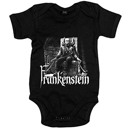 Body bebé Frankenstein película original - Negro, 6-12 meses