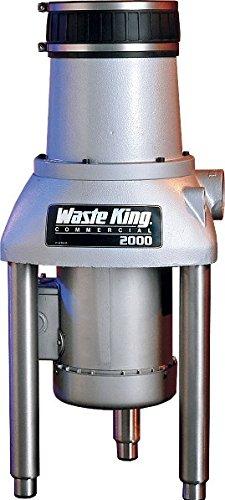 Desagüe King 2000-1 2 HP comercial triturador de basura