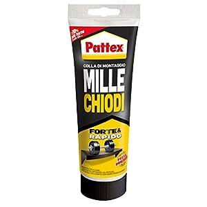 Pattex Millechiodi Forte & Rapido, adesivo di montaggio extra forte che sostituisce viti e fori al muro, adesivo bianco… 1 spesavip