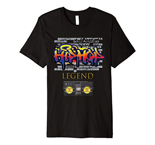 Schwarz Kostüm Weiß Hiphop Und - Herren Herren Cool: Graffiti Radio Hip Hop Shirt 80er Kostüm Outfit
