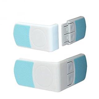 asentechuk® 4tür Kühlschrank Schublade Schrank Sicherheit Schloss-Verriegelung für Baby Kinder Kid Kleinkind