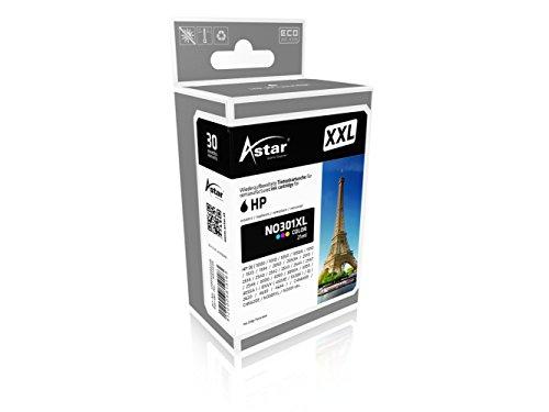 Preisvergleich Produktbild Astar AS15564 Tintenpatrone kompatibel zu HP NO301XL CH564EE, XXL 90 prozent Mehrleistung, 630 Seiten, color
