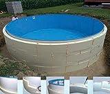 Summer Fun Beckenverschalung (kein Beton notwendig) für Rundpools mit schmalem Handlauf 4,00m x 1,20m