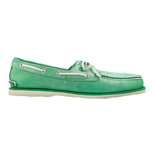 TIMBERLAND - Classic Boat 2 EYE - Herren Halbschuhe - Grün XXL Schuhe in Übergrößen Grün