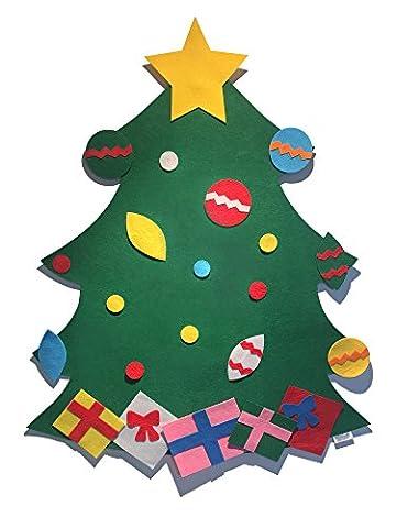 Filz Weihnachtsbaum mit Dekorationen von Handcraft Creations | 3ft hoch Wand / Tür hängen Weihnachtsbaum Set mit (Festliche Zitate Für Weihnachten)