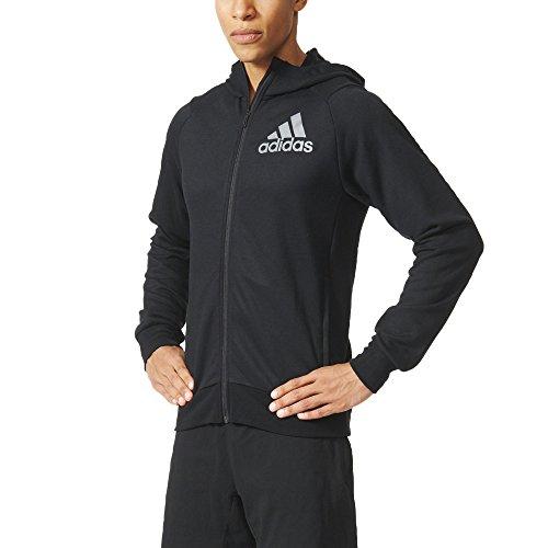 adidas Herren Sweatshirt PRIME HOODIE, Schwarz (Black/NEGRO), M (Climalite Warm-up-hose)